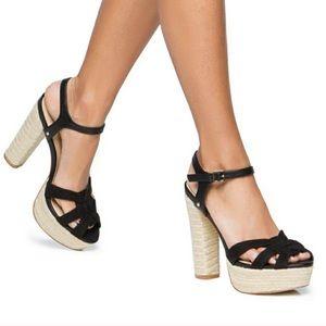 Shoe Dazzle espadrille heels